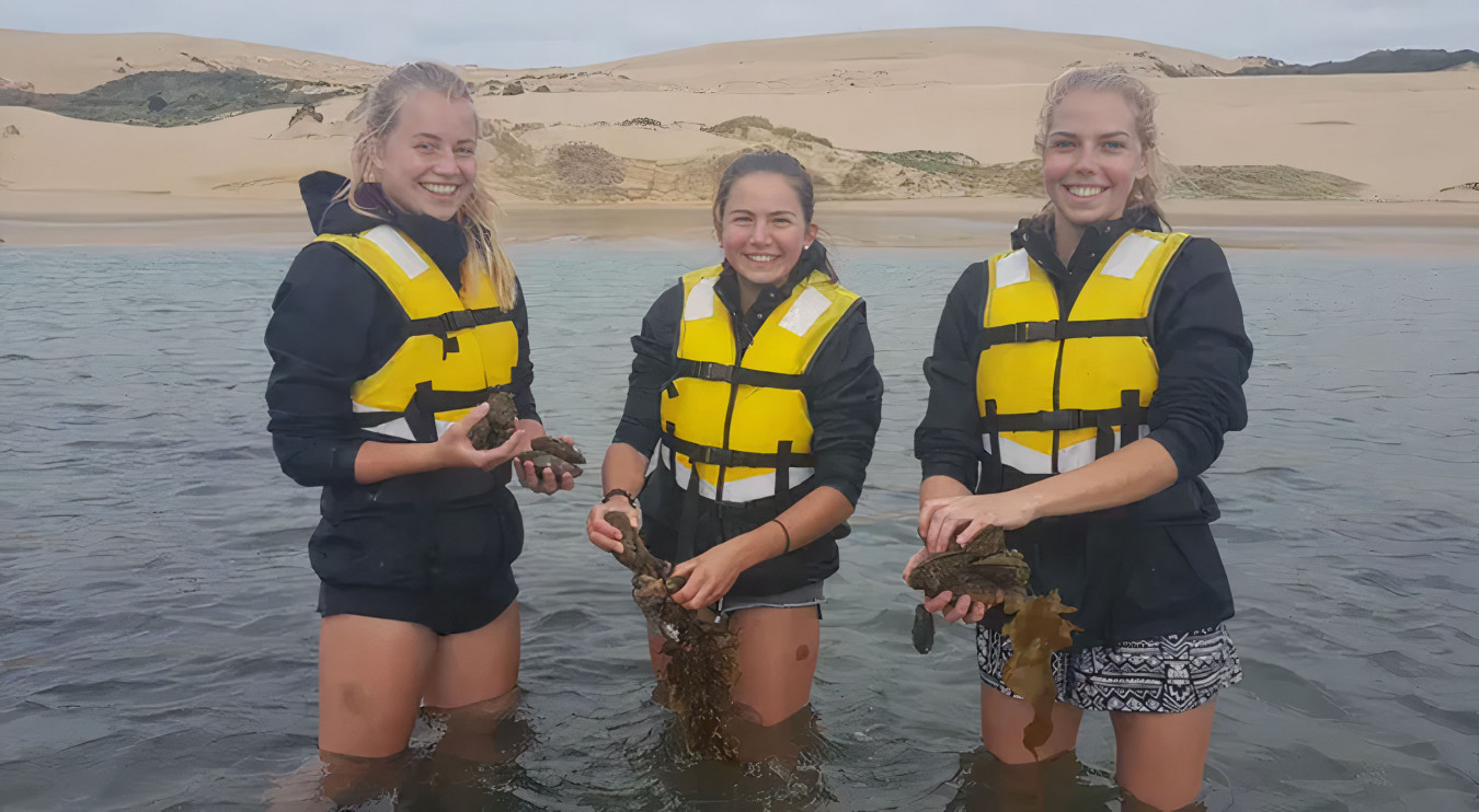 Girls at Awesome Adventures Hokianga